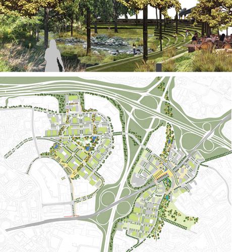 Tyson corner landscape master plan for Master plan landscape architecture